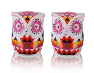 Salt and Pepper Set - Triangle Owls
