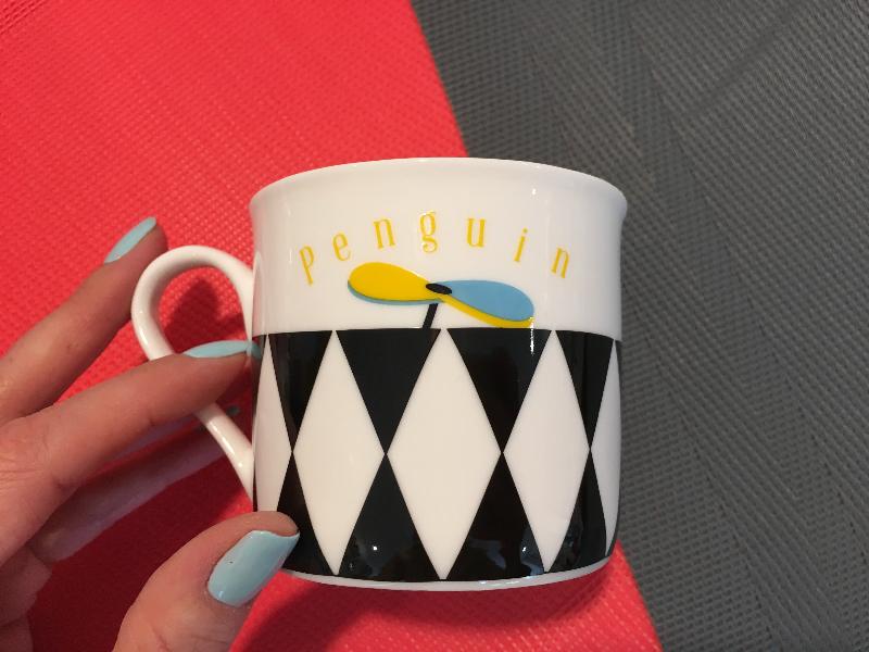 ... porcelanowy kubek pingwin ... & Porcelain children dinnerware set Pop penguin - 4 elements Silly Design
