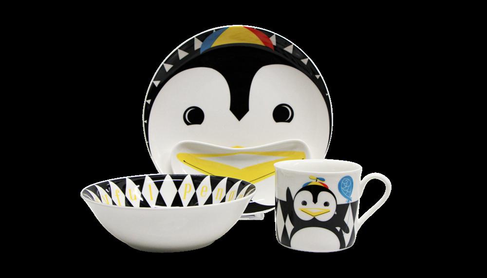 Naczynia dla dzieci Pingwin · Zestaw z porcelany dla dzieci - Pop Pingwin ...  sc 1 st  Silly Design & Porcelain children dinnerware set Pop penguin - 4 elements Silly Design
